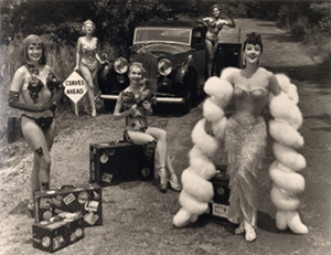Gypsy Rose Lee on the road. Ph The Steiners