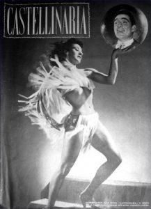 Lia Cortese con Ugo Tognazzi sulla copertina del programma di sala dello spettacolo di rivista Castellinaria