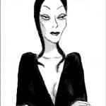 La Morticia originale: quella disegnata da Chas Addams