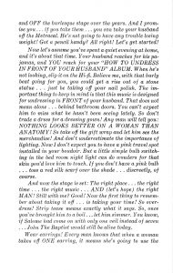 "Il booklet di ""How To Strip For Your Husband"" firmato da Ann Corio. Pagina 3."