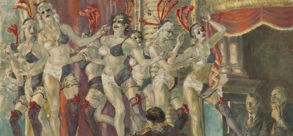 Reginald Marsh, Minsky's Chorus, tempera a uovo (38x44),1935, Whitney Museum of American Art, New York