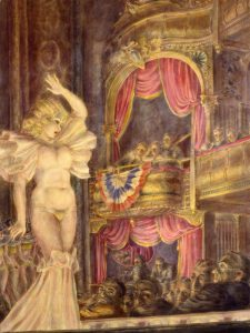 Reginald Marsh, Star Burlesque, 1933, tempera a uovo su tela, Curtis Galleries, Minneapolis