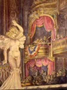 Reginald Marsh, Star Burlesque, 1933, tempera a uovo su tela, Curtis Galleries, Minneapolis