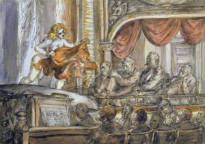 Reginald Marsh, Burlesque, acquerello (35,6x50,8), 1939