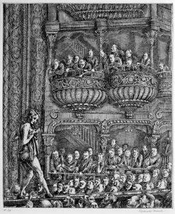 Reginald Marsh, Gaiety Burlesk, stampa (31,8 x 26,7), 1930