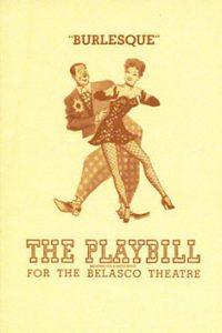 """Il programma di sala della commedia """"Burlesque"""", in scena nel 1927."""