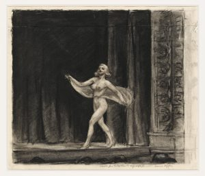 "Edward Hopper, Disegno preparatorio per ""Girlie Show"", gesso su carta (33,8x38), 1941"