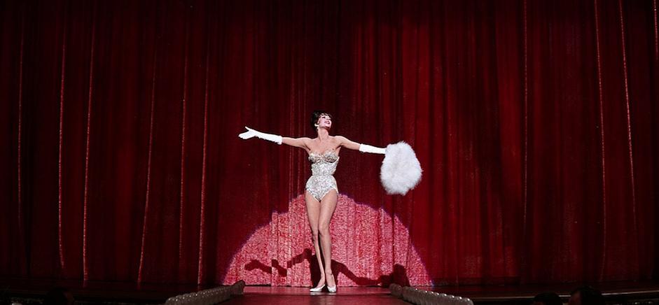 """Natalie Wood nel film """"Gypsy"""" (""""La donna che inventò lo strip-tease""""), diretto da Mervyn LeRoy nel 1962."""
