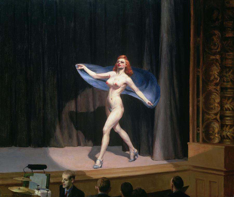 """Edward Hopper, """"Girlie Show"""", 1941, Olio su tela (81,3x96,5), Collezione privata."""