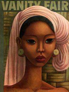 """""""Bali Beauty"""", illustrazione di Miguel Covarrubias per l'edizione di febbraio 1936 di Vanity Fair"""