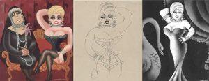 "Mae West, da sola e in ""compagnia"" drlla regina Marie di Romania (Miguel Covarrubias, anni '30)"