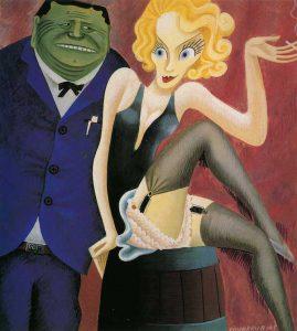 Il Senatore Smith W. Brookhart contrapposto a Marlene Dietrich (Miguel Covarrubias 1932)