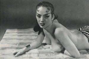 Tura Satana sulle pagine di Cabaret Magazine (gennaio 1957)