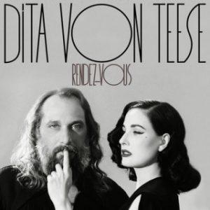 Dita von Teese e Sébastien Tellier nell'artwork del singolo digitale di Rendez-Vous