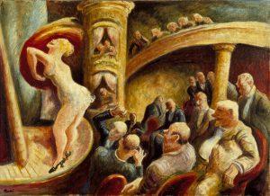 """Dipinto di Thomas Hart Benton """"Burlesque 1922"""""""