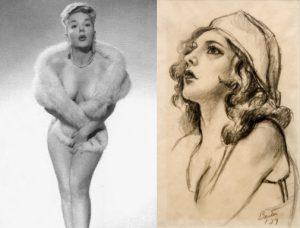 Peggy Reynolds e lo studio di Thomas Hart Benton per il suo ritratto