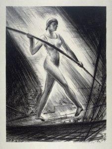George K. Hartwell, Slack Wire Walker, litografia