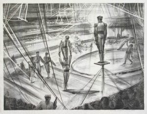 George K. Hartwell, Circus Acrobats, litografia