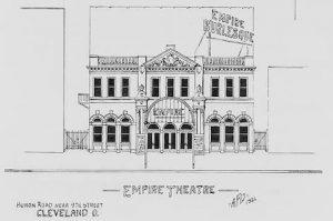 Disegno dell'Empire Burlesque Theatre