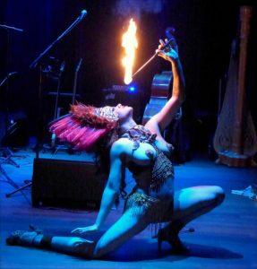 Natsumi Scarlett fire breather