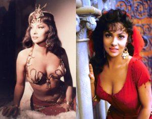 """Gina Lollobrigida in """"Salomone e la regina di Saba"""" (1959) e """"Il gobbo di Notre Dame"""" (1956)"""