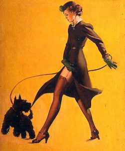 """Gil Elvgren, """"Man's best friend"""", 1937"""