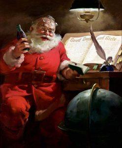 Il Babbo Natale di Haddon Sundblom per Coca Cola