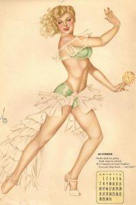 Illustrazione di Alberto Vargas per Esquire Magazine