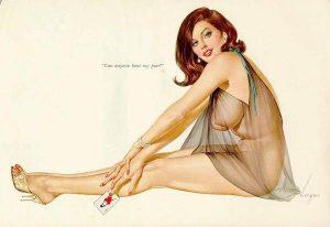 Illustrazione di Alberto Vargas per Playboy