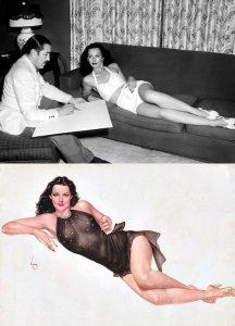 L'attrice Hedy Lamarr ritratta da Alberto Vargas