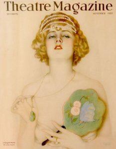 """L'attrice Hilda Ferguson nel manifesto di Alberto Vargas per le """"Ziegfled Follies"""" del 1925, sulla copertina di Theatre Magazine"""