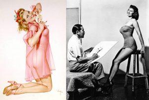 Una delle modelle preferite da Alberto Vargas, la bruna Irish McCalla, diventa bionda nell'opera conclusa