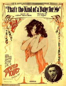 """Il manifesto di Alberto Vargas per le """"Ziegfled Follies"""" del 1917, riprodotto sulla copertina di uno spartito"""