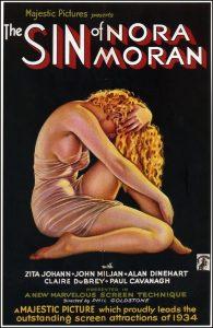 """Il manifesto di """"The Sin of Nora Moran"""" disegnato da Alberto Vargas"""