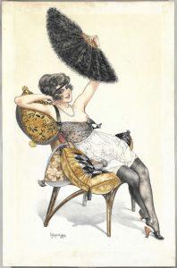 Chéri Hérouard, cartolina illustrata