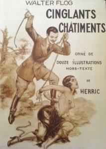 """Chéri Hérouard (aka Herric), copertina del libro """"Cinglants Chatiments"""" di Walter Flog, 1932"""