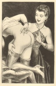 "Chéri HérouardChéri Hérouard, illustrazione per una ""spanking novel"""