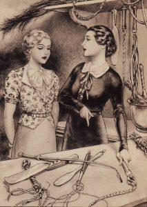 "Chéri Hérouard, illustrazione per una ""spanking novel"""