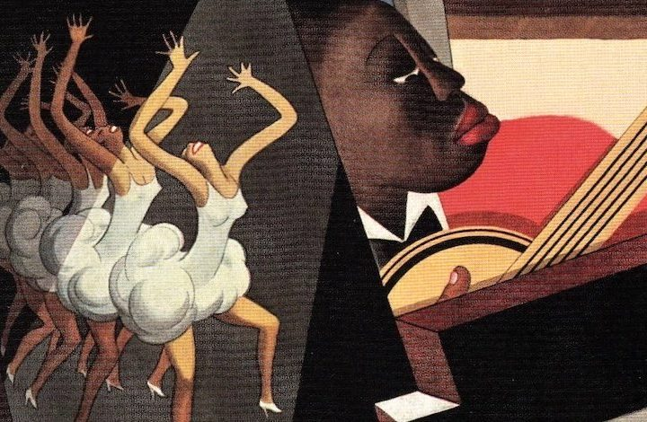 Vanity Fair, January 1928. William Bolin. Illustration of Harlem entertainers. Detail.