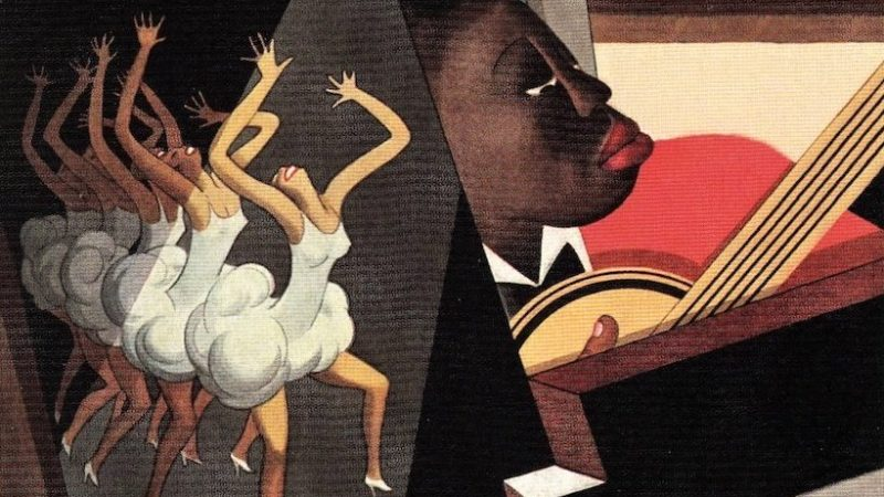 Vanity Fair, January 1928. William Bolin. Illustration of Harlem entertainers. Detail.